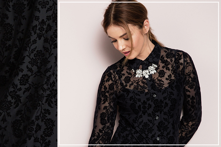 If you're after an even subtler take on the trend, try a lacy floral overlay. Shop the Capture Shirt Tunic.