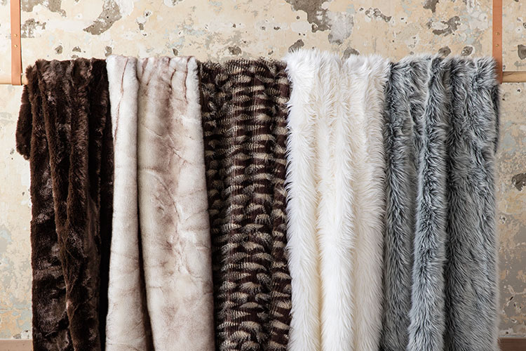 Style your home with faux fur throw