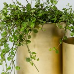 Gold House Plant Holder (Style 151085)