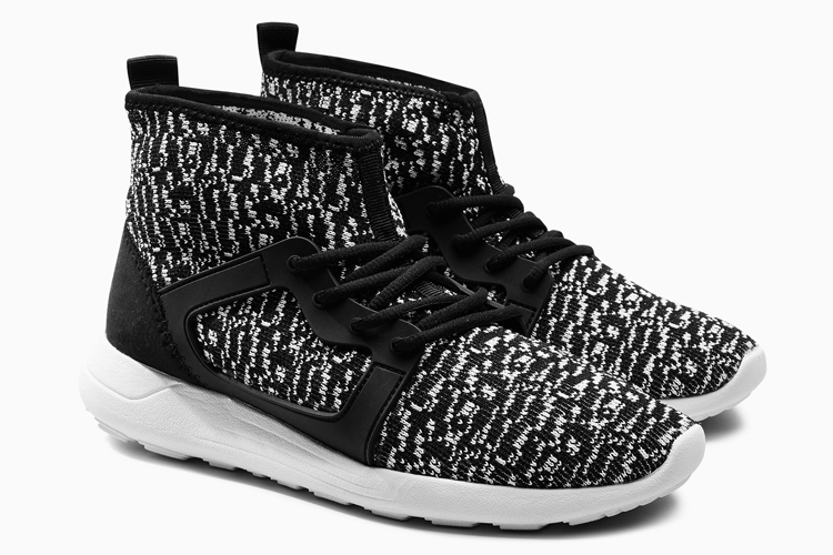 Next Monochrome Knit Look High Top Trainers