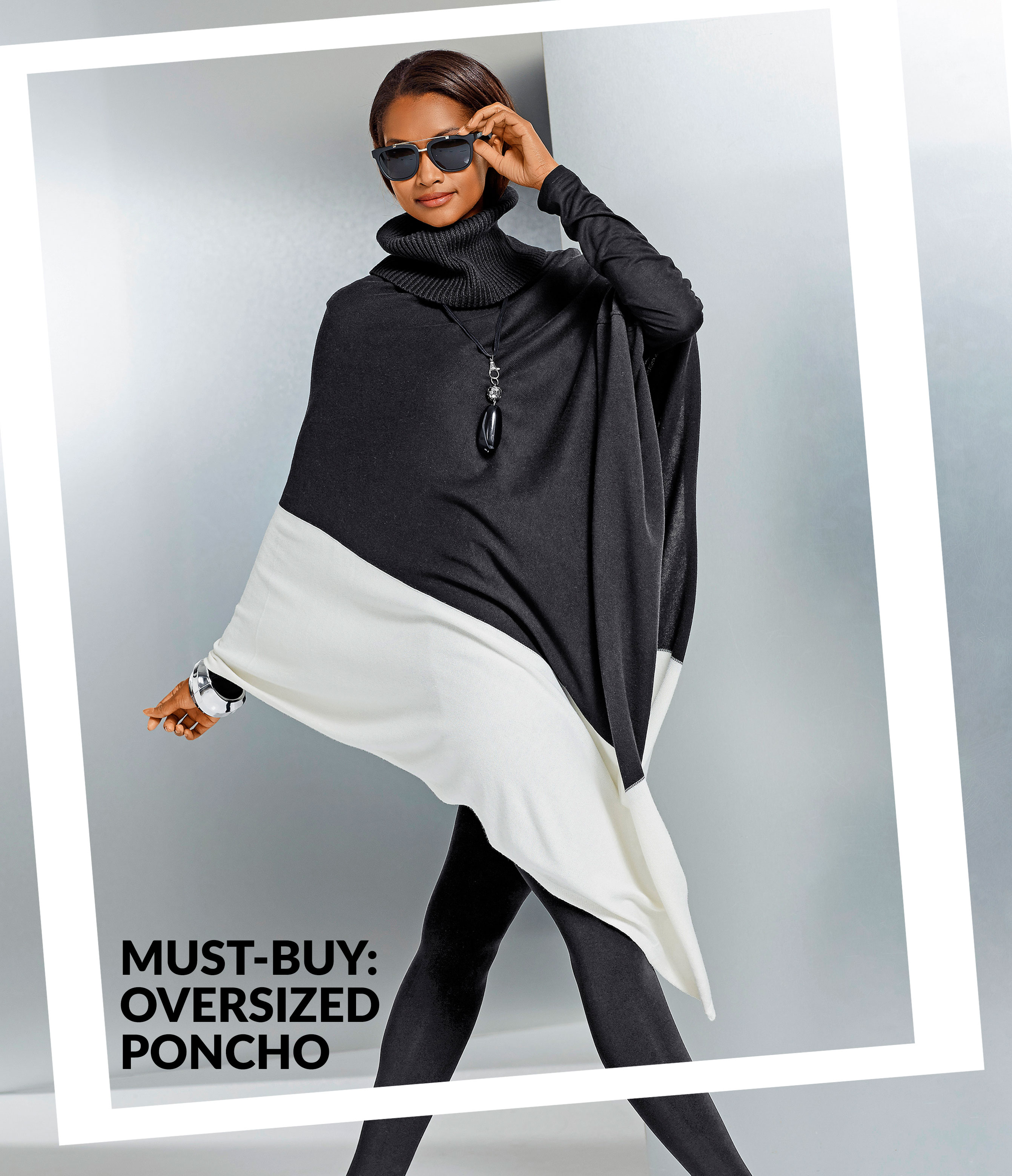 The Must-Buy: the oversized poncho