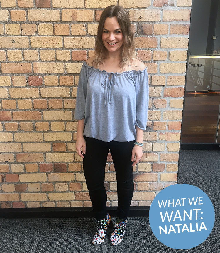 What we want: Natalia tells us her favourites