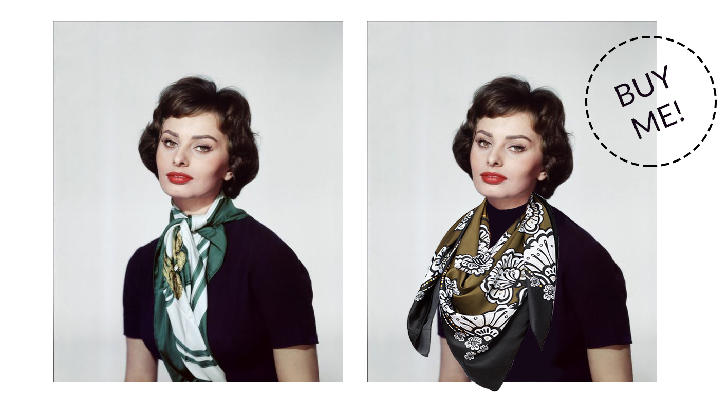 Sophia Loren in our Neckercheif