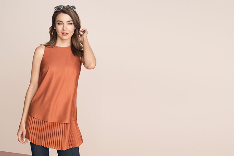 Bronze Top - Our Pleats Edit