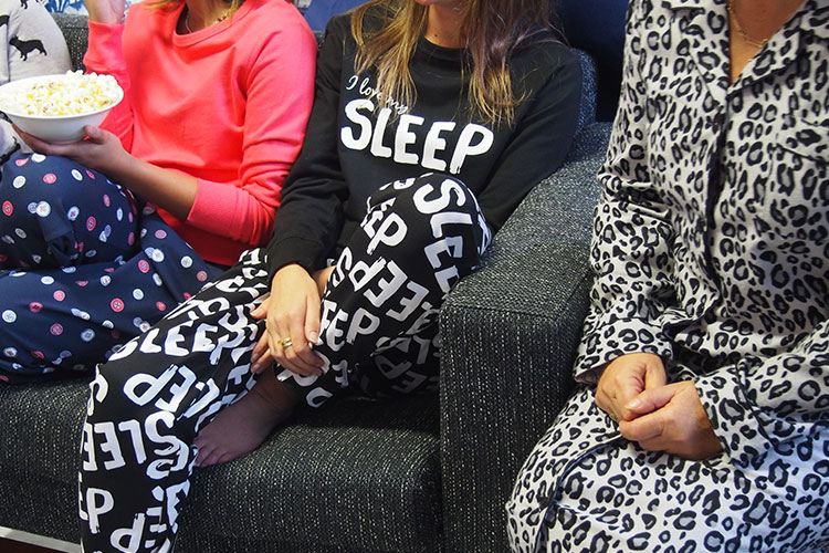 Get your good friends together and throw a grown up pyjama party! Shop Sleepwear.