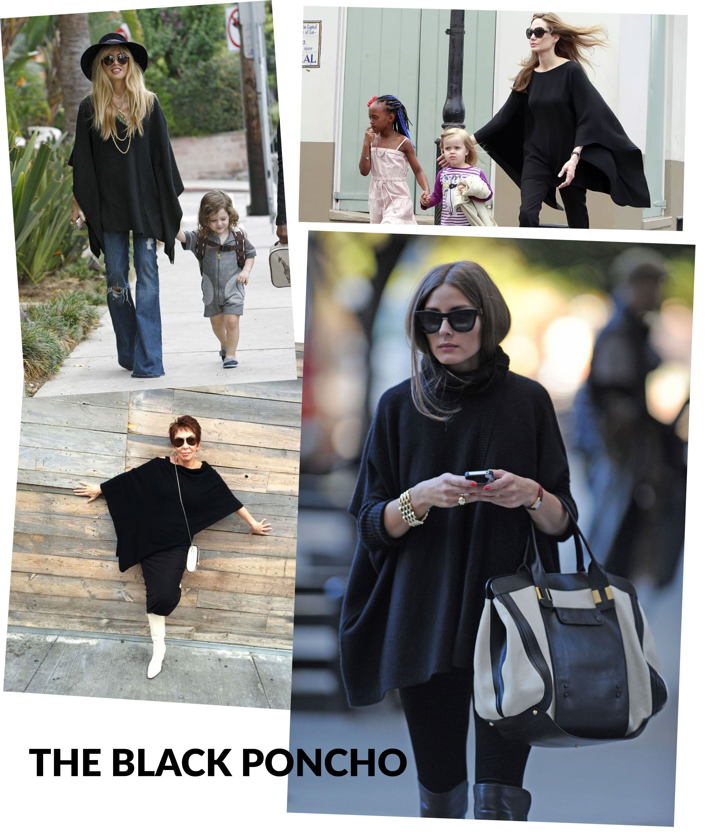The Poncho - As seen on: Rachael zoe, Angelina Jolie, Olivia Palermo, Dorrie Jacobson.