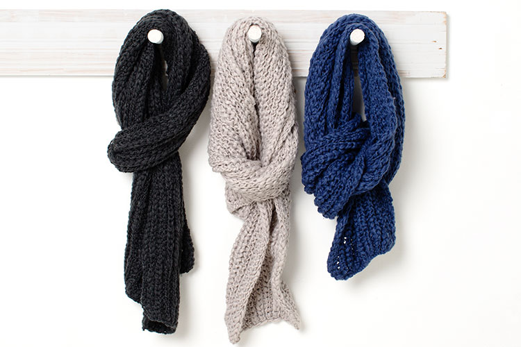 A scarf adds warmth and changes the look of your otu